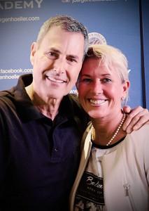 Andrea Kühne mit Weltstar Uri Geller